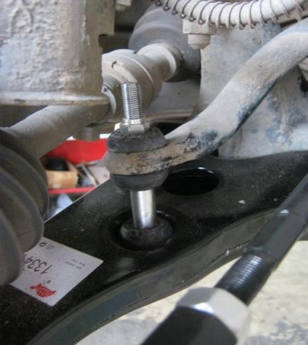 стойки переднего стабилизатора на митсубиси аутлендер 2004