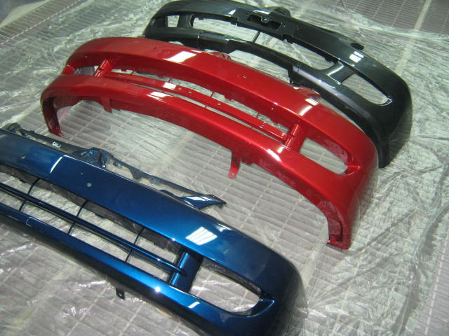 Ремонт, покраска и замена переднего бампера на Мицубиси Лансер 9